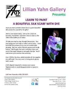 Learn to Paint a Beautiful Silk Scarf