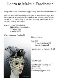 Learn to Make a Fascinator - Oct. 21